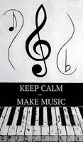 KEEP CALM AND MAKE MUSIC - Black Notes