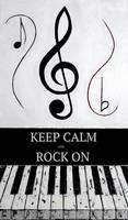 KEEP CALM AND ROCK ON - Black Notes