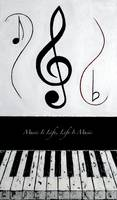 Music Is Life - Life Is Music - Black Notes