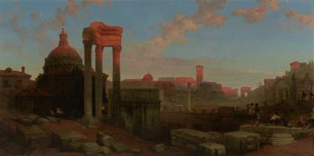 The Remains of the Roman Forum DAVID ROBERTS 1861