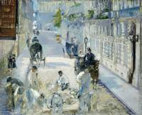 The Rue Mosnier With Workmen by Edouard Manet
