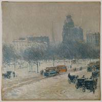 Winter in Union Square , Childe Hassam