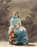 Woman Sewing by Winslow Homer