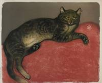 Winter,  Cat on a Cushion by Théophile Alexandre S