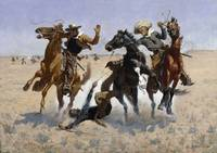 Aiding a Comrade, at and by Frederic Remington
