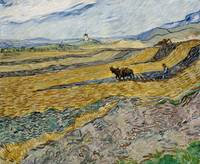Enclosed Field with Ploughman at Wheat Fields (Van