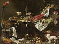 Banquet Still Life, at and by Adriaen van Utrecht