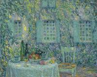 Henri Le Sidaner 1862 - 1939 TABLE. SUN IN THE LEA