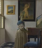Lady Standing at a Virginal, by Johannes Vermeer