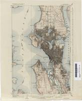 Antique Map of Seattle - USGS Topographic Map - 18