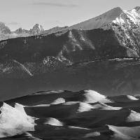 Monochrome Morning Sand Dunes and Peaks Art Prints & Posters by James