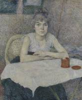 Young Woman at a Table, 'Poudre de riz' 1887 Henri