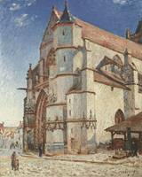 The Church at Moret in Morning Sun, 1893