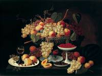 Severin Roesen, Still Life With Fruit, in the Whit