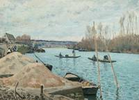 The Seine at Port-Marly, Piles of Sand, 1875