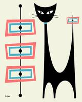 Atomic Cat with Pink and Turquoise Rectangles on c