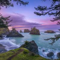 Sunrise at Secret Beach in Oregon by Cody York_231 Art Prints & Posters by Cody York