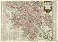 Antique map of Paris, 1792