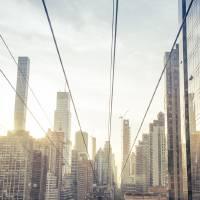 Aerial Manhattan Skyline Art Prints & Posters by Lorraine Boogich