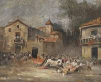 Eugenio Lucas Velazquez, (attr) A Bullfighting 186
