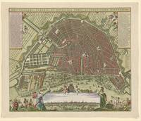 Hand-coloured Map of Amsterdam, anonymous, after N