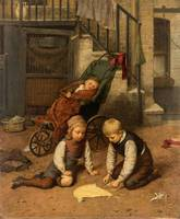 HARRY BROOKER (BRITISH 1848-1940) Children Playing