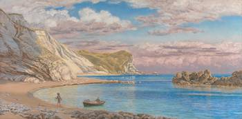 Man of War Rocks, Coast of Dorset by John Brett, 1