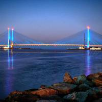 """Indian River Inlet Bridge at Twilight"" by travel"