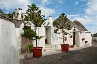 Typical beautiful Trulli houses