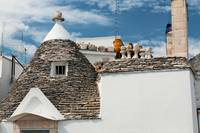 Roof of a Trullo house in Alberobello