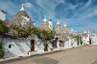 Trulli houses in the shopping street