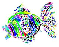 Abstract Colorful Fish