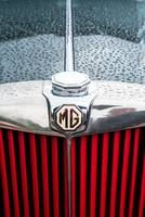 MG Sports car radiator and badge detail