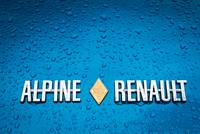 Renault Alpine badge.