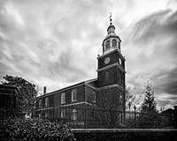 Old Otterbein UM Church in Black & White