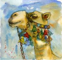 watercolor print | camel painting | animal art