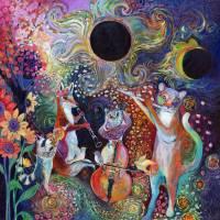 Solar Eclipse Sonata Quartet Art Prints & Posters by Jennifer Lommers