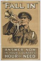 Poster, Fall In, November 1914, United Kingdom, by