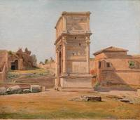 The Arch of Titus in Rome by Constantin Hansen, 18