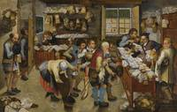 The Tax-Collector's Office by Pieter Brueghel the