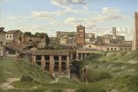 View of the Cloaca Maxima, Rome by Christoffer Wil