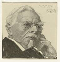 Portret August Allebé 1918, Bernard Willem Wierink