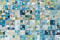 Coral Blue Glass Tiles