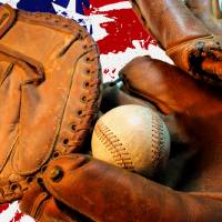Baseball and Flag Art Prints & Posters by Pat Cook