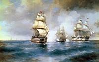 Aivazovsky, Brig Mercury Attacked by Two Turkish S