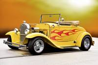 1930 Ford Model A Roadster wFlames ll