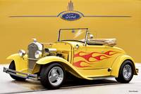 1930 Ford Model A Roadster wFlames l