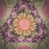 Pastel Pearl Lotus Garden of Fractal DahliaFlowers