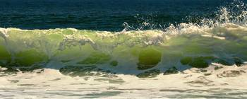 Atlantic Ocean Green Wave Panorama