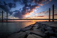 North Jetty Sunset at Indian River Inlet Bridge